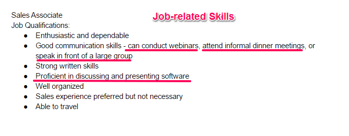 Skills Examples Resume How To Write A Resume Skills Section