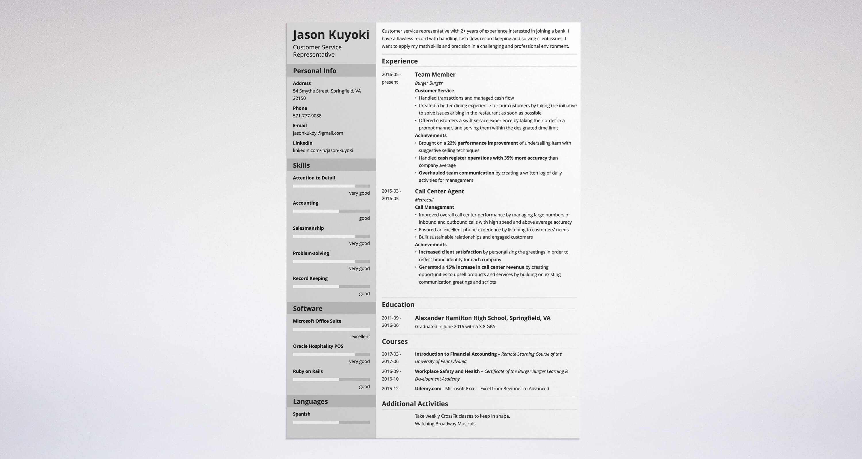 Bank Teller Resume Sample & Complete Guide 20 Examples