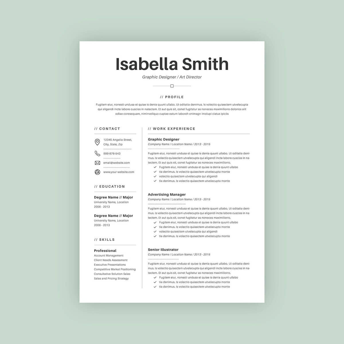 Basic Resume Templates 15 Examples to Download  Use Now