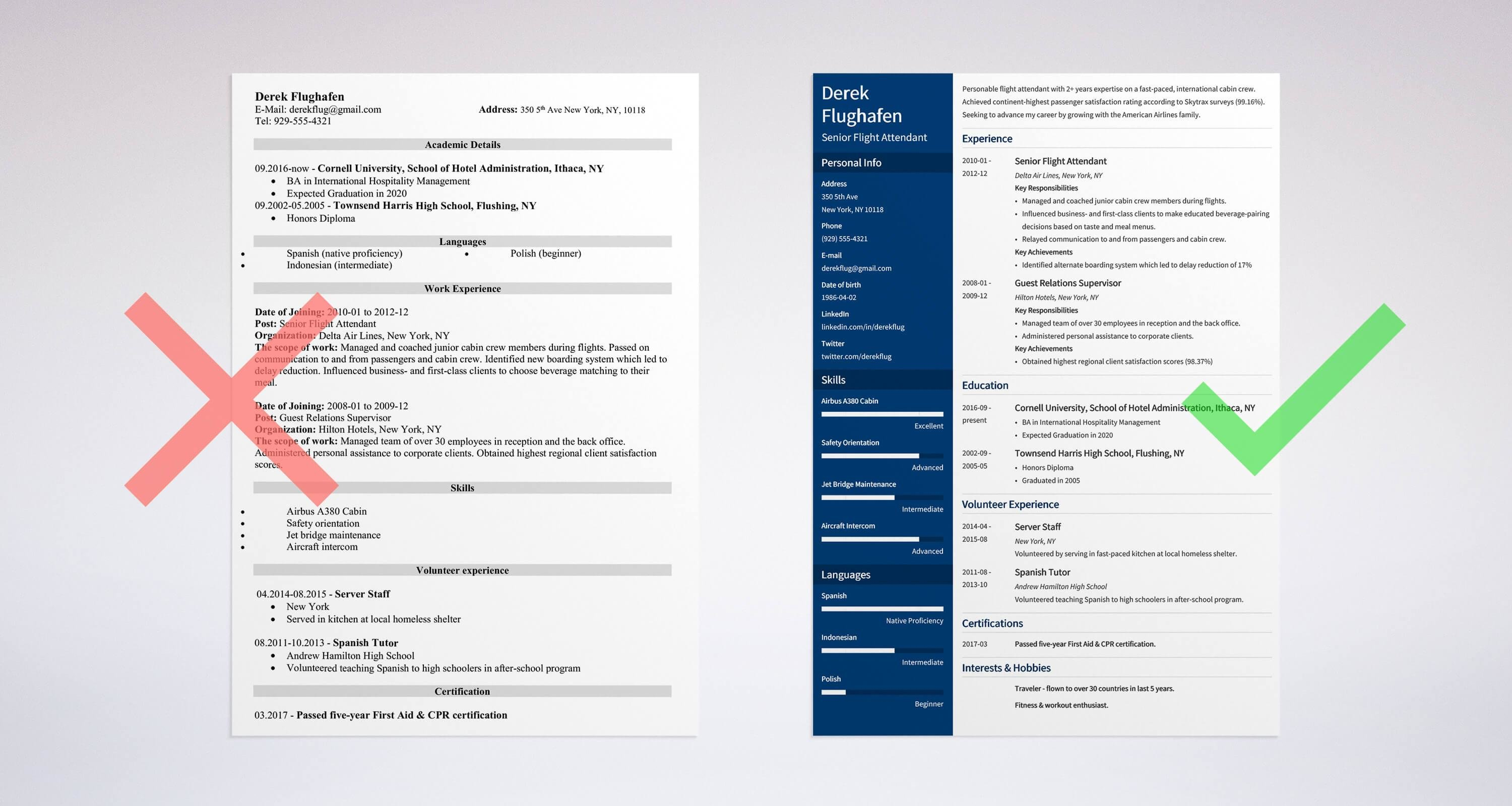 Flight Attendant Resume Sample & Complete Guide 20