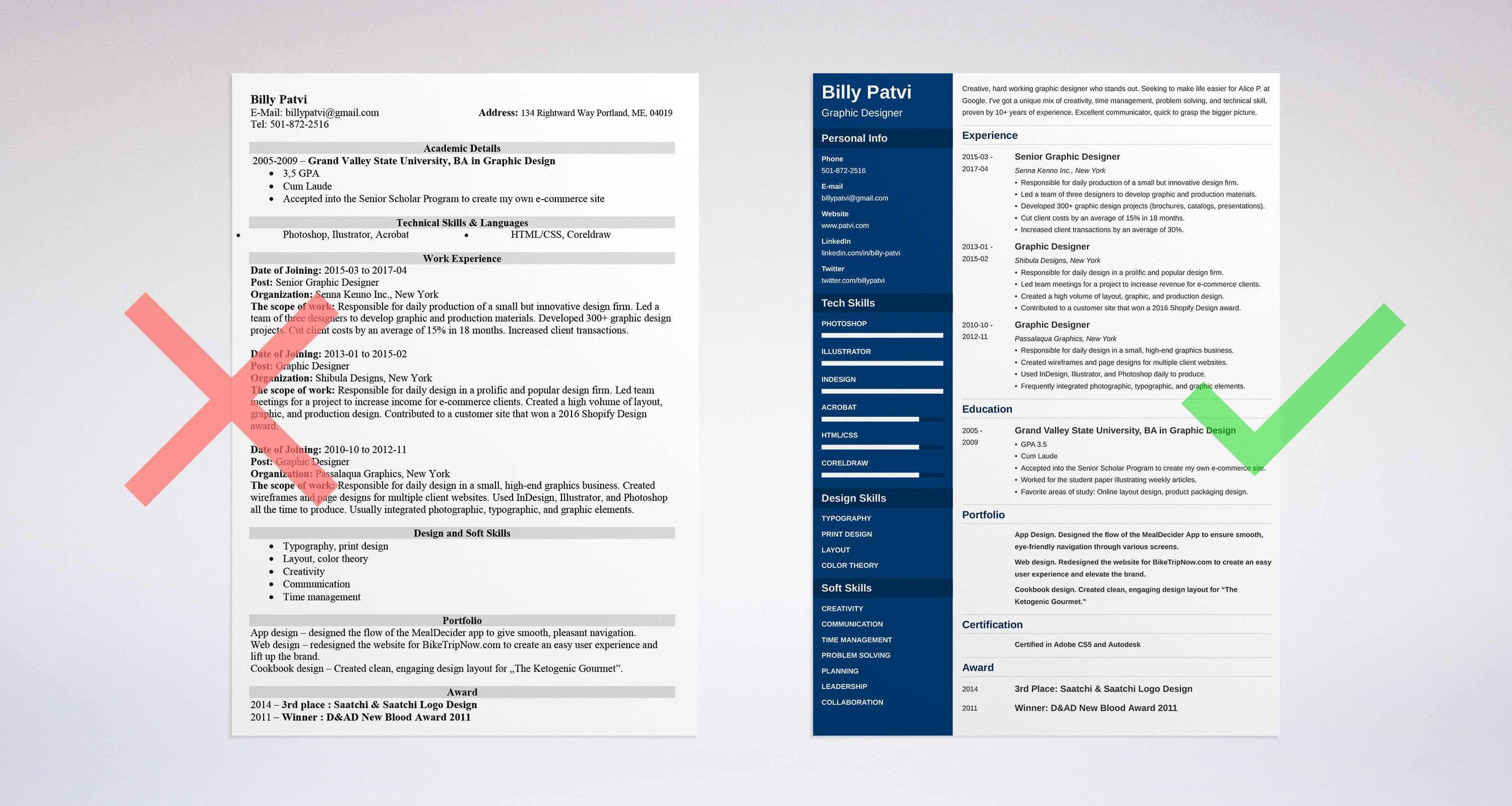 Graphic Design Resume Sample & Guide 20 Examples