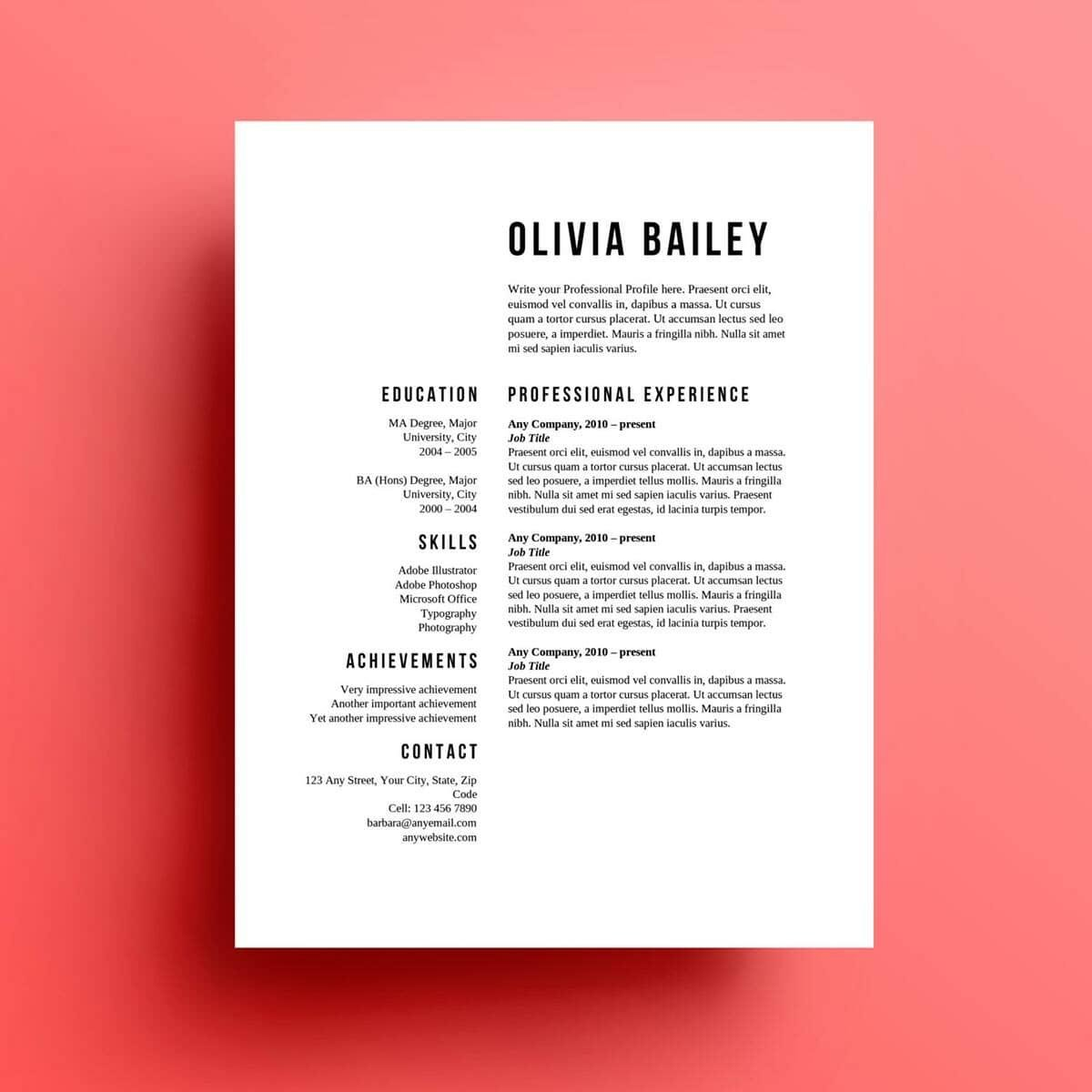 Simple Resume Templates 15 Examples To Download & Use Now
