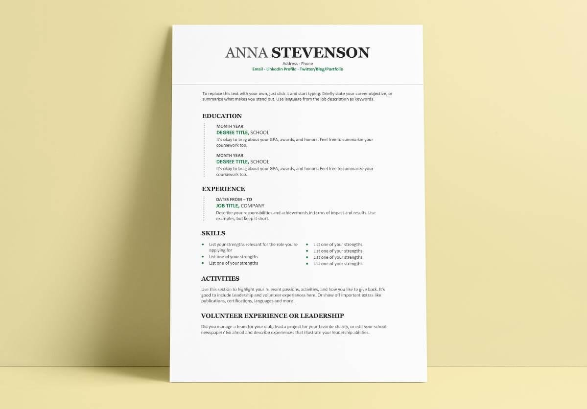 Current College Student Resume Template Student Resume Templates 15 Examples You Can Download And