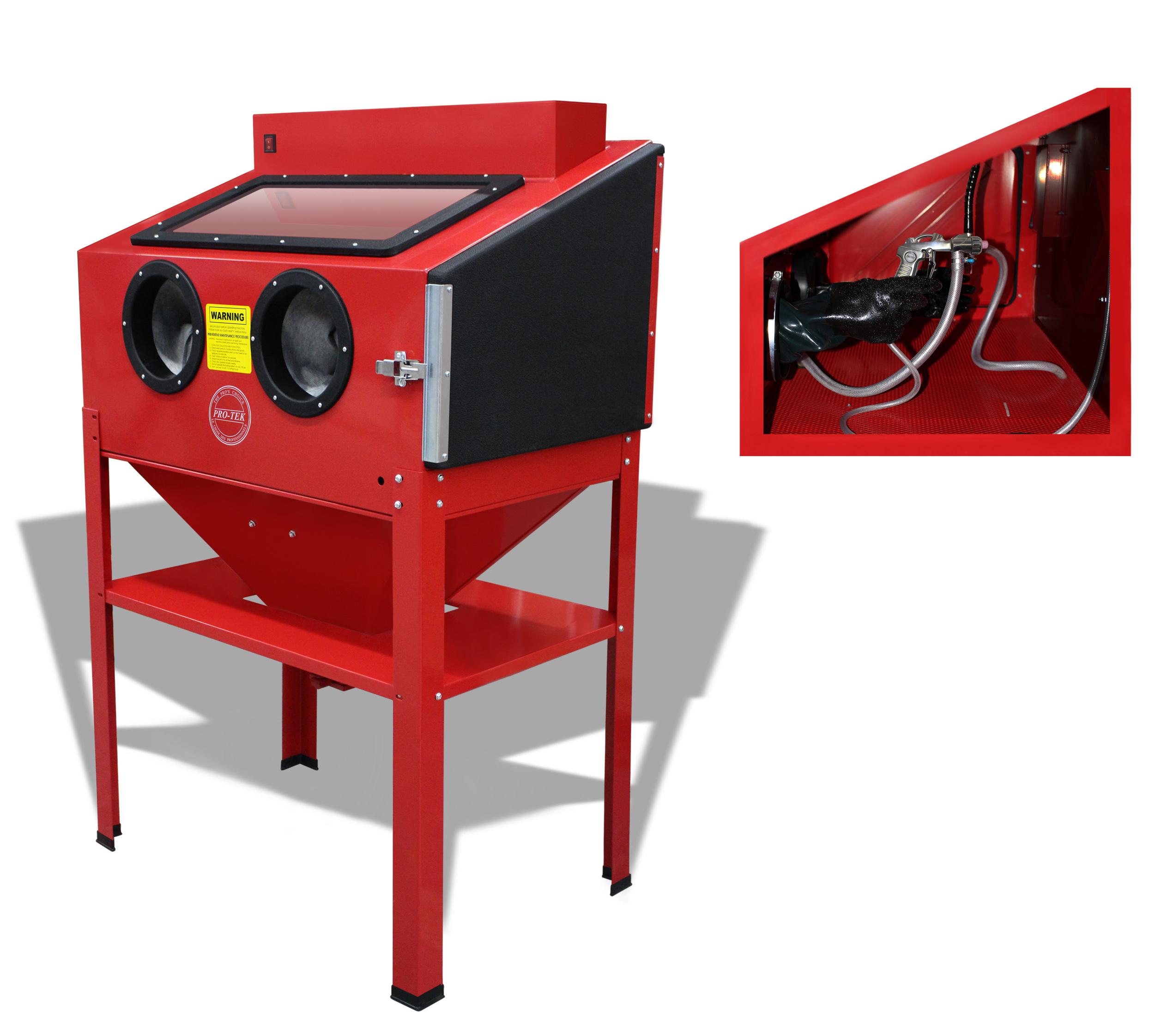 Heavy duty sandblasting cabinet  proteksprayequipmentcom