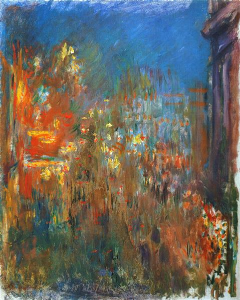 Leicester Square at Night, 1901 - Claude Monet - WikiArt.org