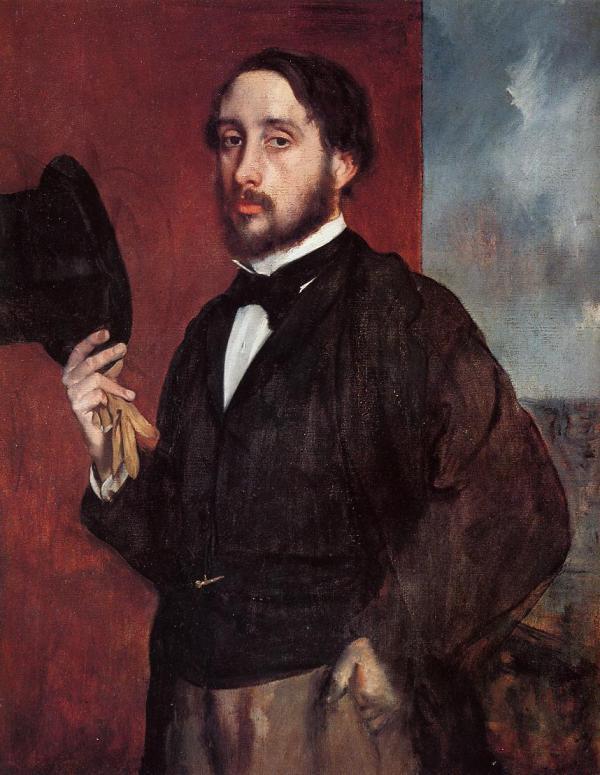 Portrait Saluting - Edgar Degas Encyclopedia Of Visual Arts