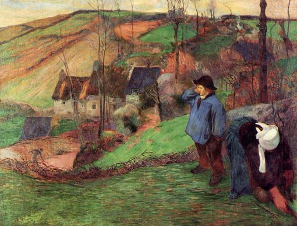 Landscape Of Brittany 1888 - Paul Gauguin