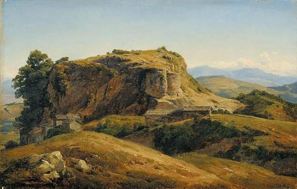 hilly landscape auvergne .1830