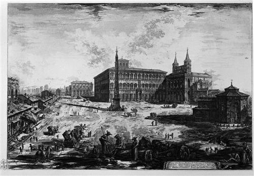 View of the Basilica of St. John Lateran - Giovanni Battista Piranesi