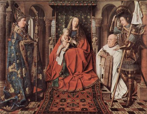 Madonna and Child with Canon Joris van der Paele - Jan van Eyck