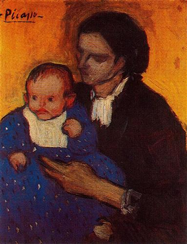 Woman with child - Pablo Picasso