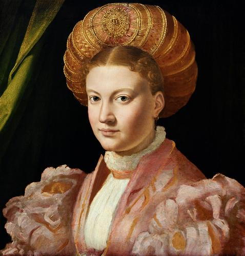 Portrait of a young woman, possibly Countess Gozzadini - Parmigianino