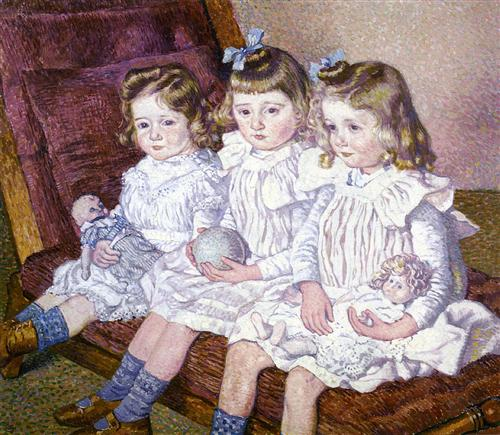 Thomas Braun's Three Daughters - Theo van Rysselberghe