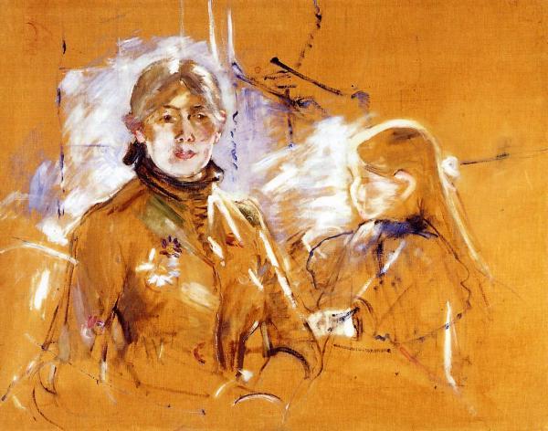 Portrait Of Berthe Morisot And Daughter 1885