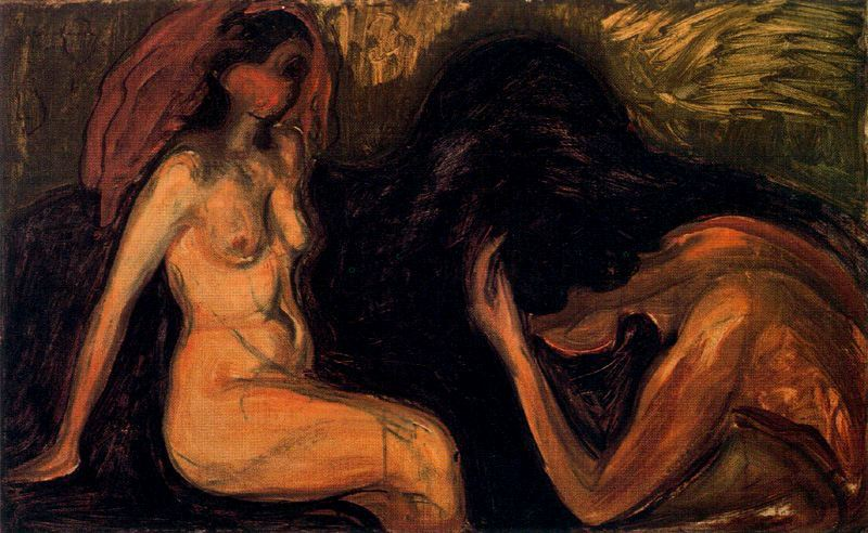 Image result for man and woman edvard munch