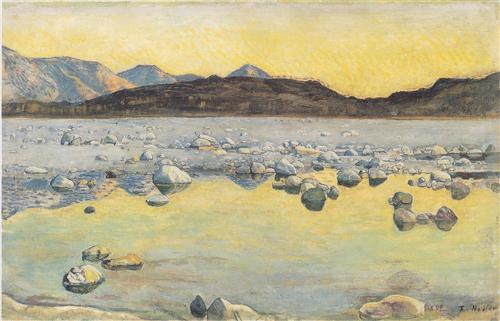 Maggia Delta before sunrise - Ferdinand Hodler
