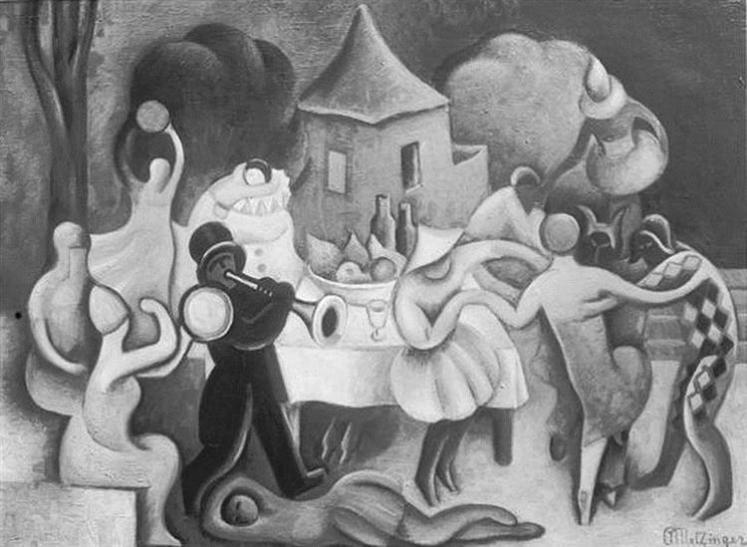 Le Bal Masqué, Carnaval à Venise, 1922 - Jean Metzinger