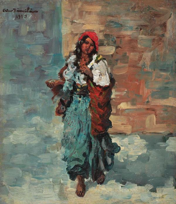 Gypsy Woman Painting