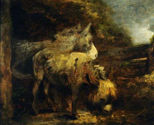 Donkeys - George Morland