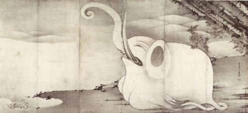 Elephant and Whale (diptych) - Ito Jakuchu