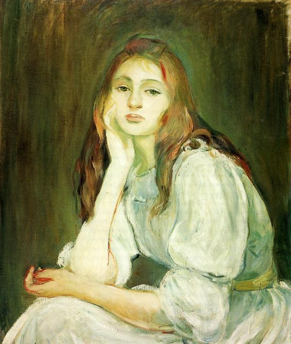Berthe Morisot Julie Daydreaming