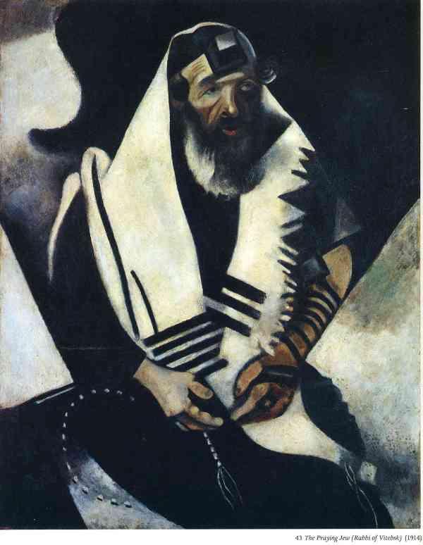 Praying Jew by Marc Chagall