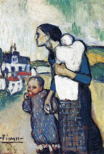 The mother leading two children - Pablo Picasso