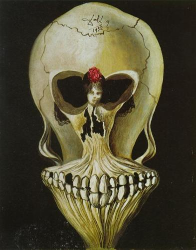 Ballerina in a Death's Head - Salvador Dali