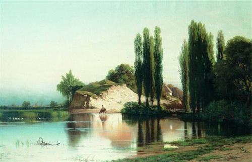 Landscape with river in Ukraine - Volodymyr Orlovsky