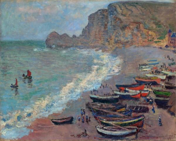 Beach Etretat 1883 - Claude Monet