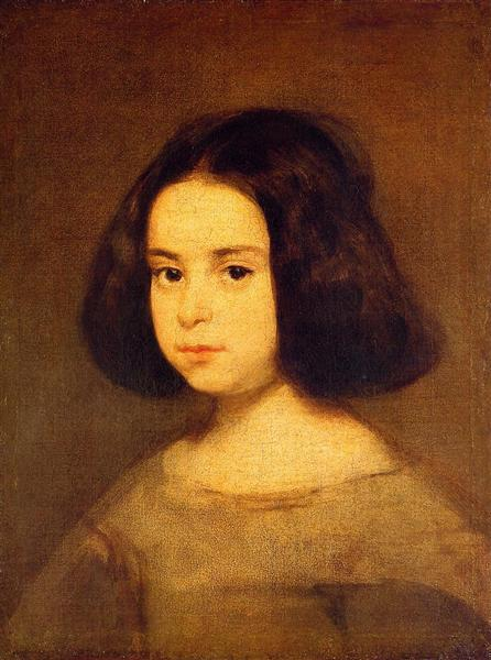 Portrait of a Little Girl - Velazquez Diego