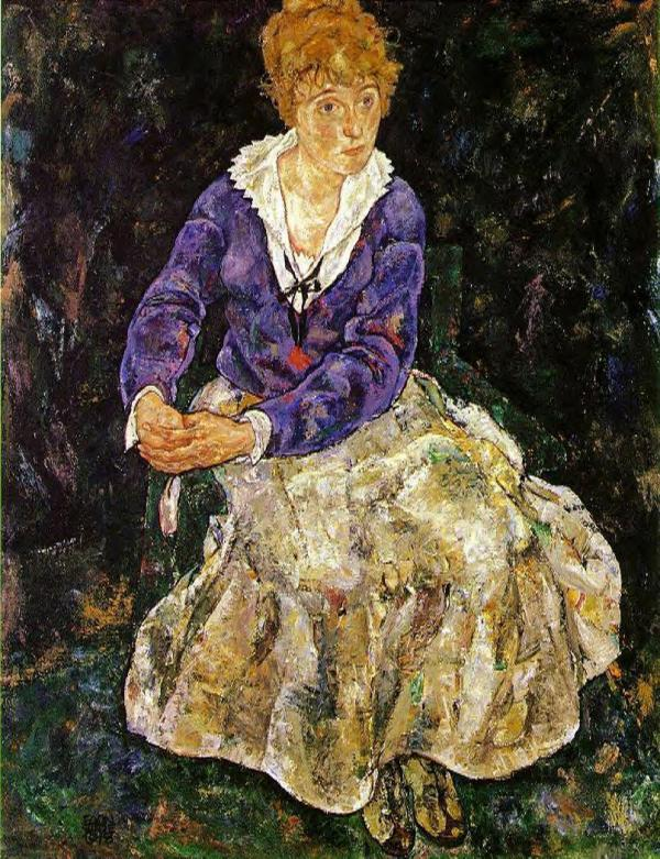 Artist' Wife Seated - Egon Schiele