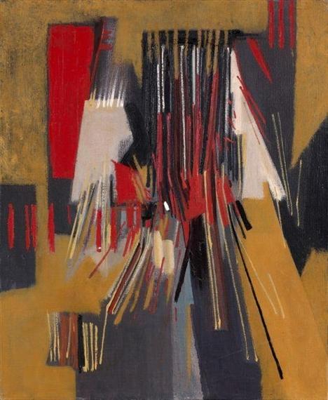 Composition Rouille Et Noire Xxv : composition, rouille, noire, Rouge, Encore,, Huguette, Arthur, Bertrand, WikiArt.org