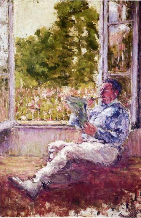 Мужчина сидящий у окна.