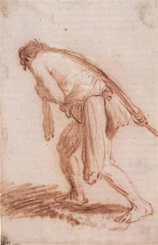 Man Pulling a Rope - Rembrandt