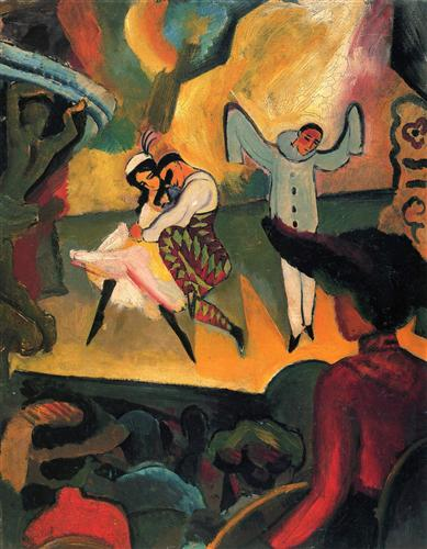 Russisches Ballett (I) - August Macke