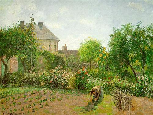 Pissarro's Garden at Eragny, 1898