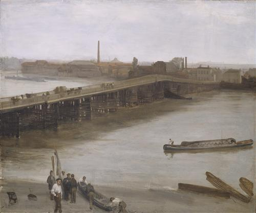 Brown and Silver: Old Battersea Bridge - James McNeill Whistler