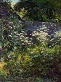 Corner of overgrown garden. Goutweed-grass, 1884 - Ivan ...