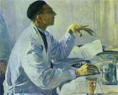 Portrait of S. S. Yudin - Mikhail Nesterov