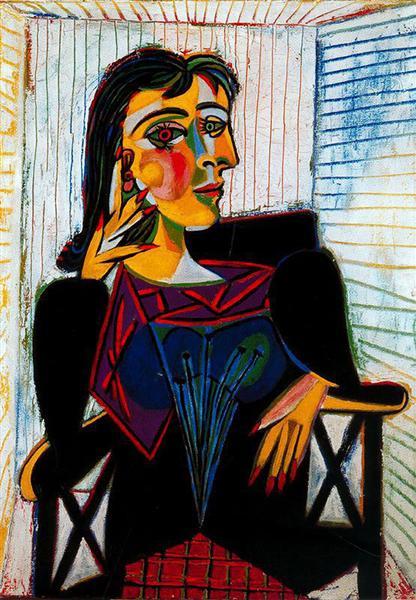 Portrait De Dora Maar : portrait, Portrait, Maar,, Pablo, Picasso, WikiArt.org