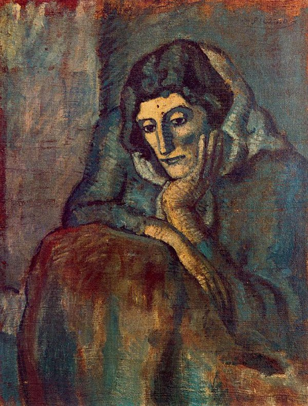 Woman In Blue 1902 - Pablo Picasso