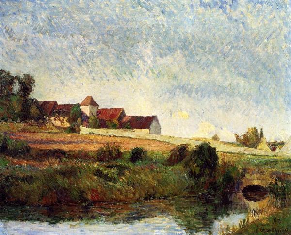 Farm In Grue 1883 - Paul Gauguin