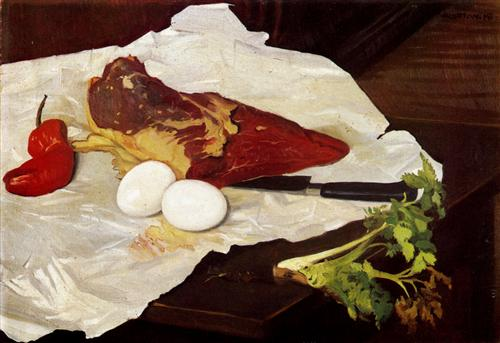 Meat and eggs - Felix Vallotton
