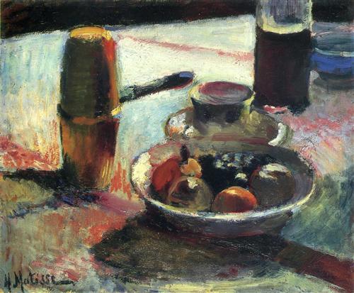 « Fruits et Cafetière » d'Henri Matisse