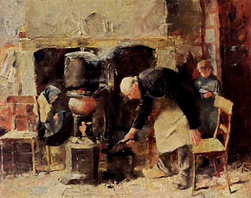Preparing The Meal - Jan Toorop