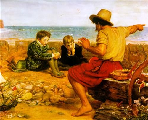 John Everett Millais, romanticism,haiku, life from sea, fish tales, life
