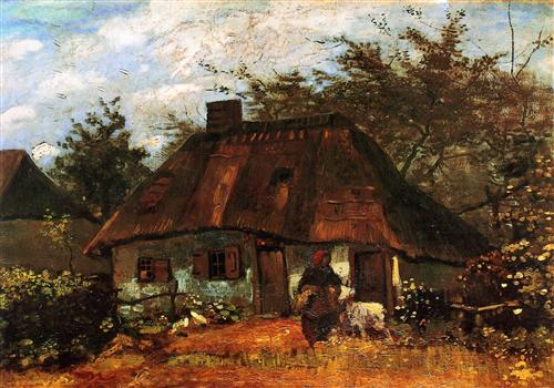Cottage and Woman with Goat - Vincent van Gogh