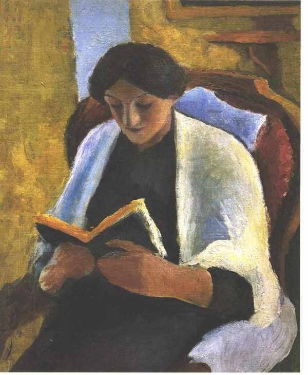 Reading Woman - August Macke Encyclopedia Of Visual Arts