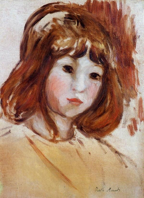 Portrait Of Young Girl 1870 - 1880 Berthe Morisot